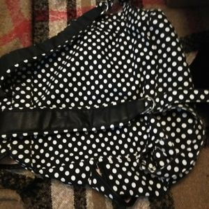 Candie's backpack black and pink polkadot